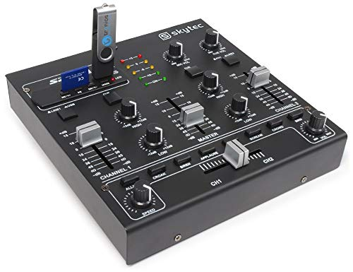 Skytec STM-2250 4-Kanal-Mixer USB SD MP3 FX