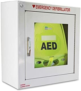 80000855 ZOLL AED Plus Standard Size Cabinet with Audible Alarm - Metal - White