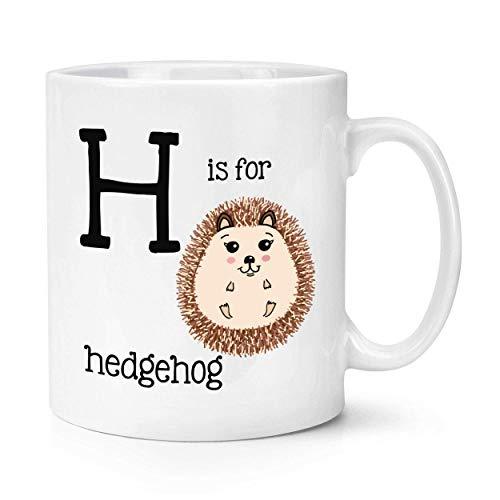 Buchstabe H ist für Igel-Becher-Tasse - Alphabet lustig
