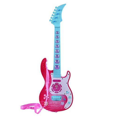 HYMAN Guitarra para niños, 4 Cuerdas Guitarra Eléctrica Instrumento Musical de Juguete para Principiantes, 53 x 16,5 x 5 cm