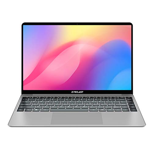 TECLAST F7S 14.1 Inch Windows 10 Laptop, 8GB RAM+128GB ROM 7mm Ultrabook, Intel N3350 1.1-2.4 Ghz CPU, 1920x1080 Full HD Screen,Support TF & M.2 Slot Expansion,Full Size Keyboard, WiFi USB3.0 BT 4.2