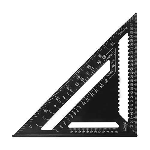 Aluminiumlegierung Dreieck Lineal Metric Square Winkelmesser Framing Messen 7 /'/'