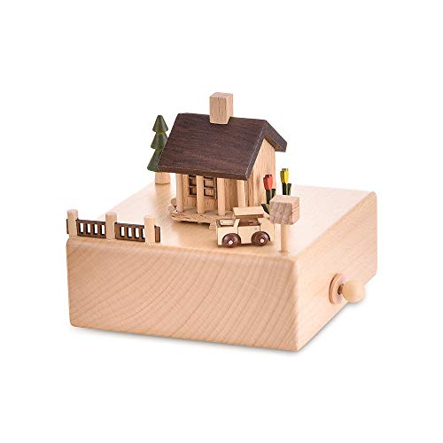 Shangfu Decoration Music Box Wooden Retro Dance Sky Castle Craft House Home Decoration DIY