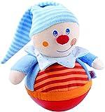 HABA 5849 Stehauffigur Kasper, Motorikspielzeug mit Wackel-und Klingeleffekt, Außenmaterial aus weichem Stoff, Babyspielzeug ab 6 Monaten