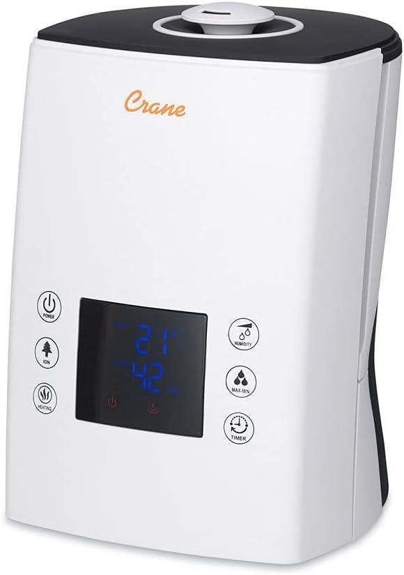 All items in the store Crane Digital Ultrasonic Warm Cool Mist Humidifier 1.2 Max 62% OFF gallon