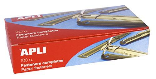 APLI 11832 - Fásteners metálicos dorados 90 x 12 mm 100 u.