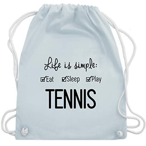 Shirtracer Tennis - Life is simple Tennis - Unisize - Pastell Blau - tennis - WM110 - Turnbeutel und Stoffbeutel aus Baumwolle