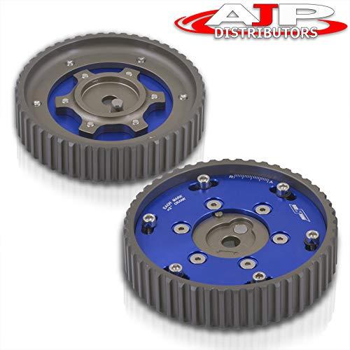 AJP Distributors Adjustable Cam Gears Timing Gear Pulley Kit For BMW E21 E28 E30 E34 E36 318i Z1 M20 2 Piece Blue