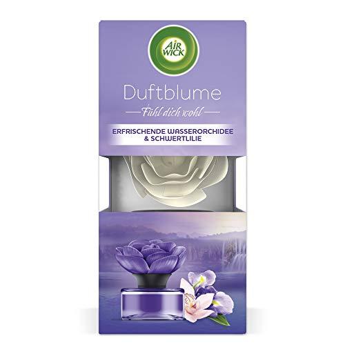 Air Wick Duftblume – Duft: Erfrischende Wasserorchidee & Schwertlilie – 1 x frischer Raumduft im Blumendesign