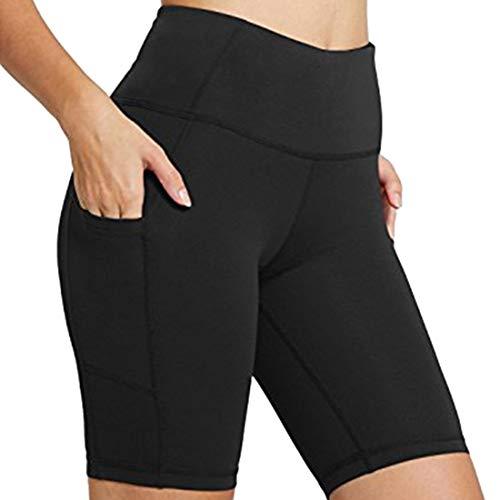 Pantalones ajustados de cinco cuartos con cintura alta y levantamiento de glúteos para mujer Leggings Capri de cintura alta para mujer, suaves y opacos con control de barriga, elásticos delgad