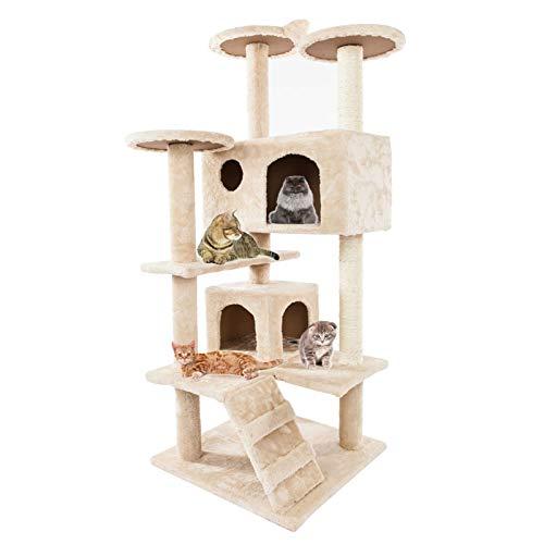 cat tree floor to ceiling gattini arrampicata torre Multi Level Cat Centro Attività con 2 Condos Tiragraffi Scala per gattini indoor