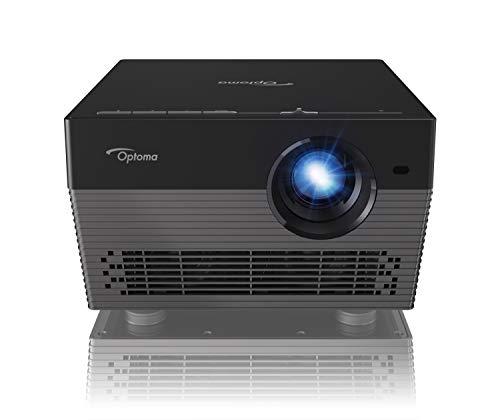 Optoma UHL55 Vidéoprojecteur DLP 4K Ultra Haute Définition LED Lumineux Tout en Un avec Lecteur multimédia intégré Noir, HDR, 2 HDMI 2.0 pour la télévision et Le Home Cinéma, WiFi, Bluetooth et Alexa