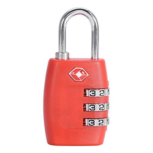TOPINCN Gepäckschloss mit Passwortschloss für Reisegepäck wasserdicht Zahlenschloss in 4 Farben rot
