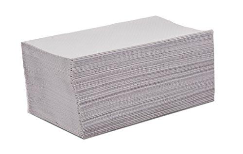 Saten papieren handdoek, gerecyclede cellulose, V-gevouwen, 21 x 20, reliëf, 1-laags, 20 verpakkingen met 200 stuks