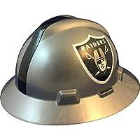 "MSA 10194777 NFL V-Gard Full Brim Hard Hat, Oakland Raiders, Standard (61 ?2 – 8"")"