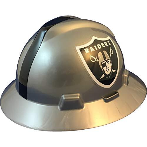 "MSA 10194777 NFL V-Gard Full Brim Hard Hat, Oakland Raiders, Standard (61 ⁄2 – 8"")"
