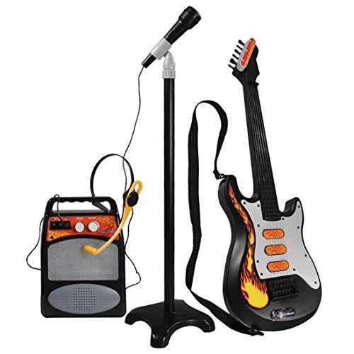 DSXX Conjunto Guitarra y Microfono, Juguete de Instrumento Musical de Karaoke, Guitarra...