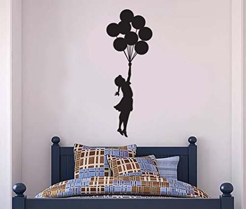 FoundaryWallArt Banksy Wand Aufkleber–Aufhängen Balloon Girl Wand Aufkleber, Banksy Aufkleber–Banksy Vinyl Wand Kunst Aufkleber