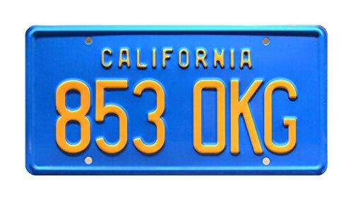 Celebrity Machines La Rockford Files | Jim Rockford de Oro Pontiac Firebird Esprit | 853OKG | Metal con Sello Mueble para Placa de Licencia