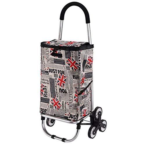 Chariot de magasinage, Chariot de magasinage Pliant étanche sur Roues avec Sac Amovible et Conception Pliable, léger et Portable, capacité maximale 40 kg, A/C Push/Pull