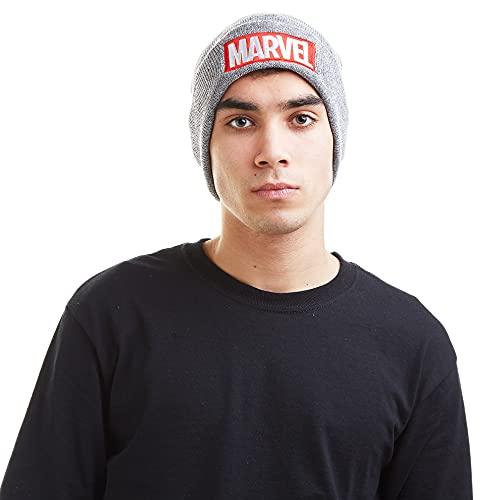 Marvel Beanie Hat RFMBH447 Gorro de Punto, Gris (Grey), Talla única (Talla del Fabricante: One Size) para Hombre