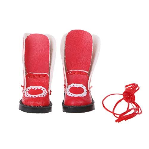 ruiruiNIE Handmade Exquisite Herz PU Leder Puppe Stiefel Für Blythe Puppe Schuhe 1/6 Puppe