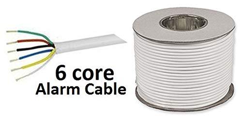 Kabel für Alarmanlage, 6-adrig, 100m Trommel, flexibel, Weiß