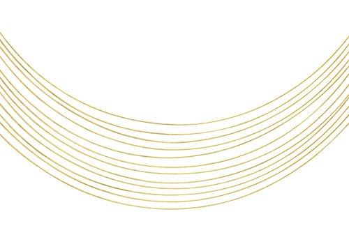 Carissima goud 9ct geel goud draad ketting van 38cm/15