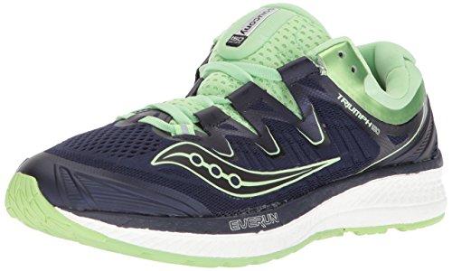 Saucony Women's Triumph ISO 4 Running Shoe, Navy/Mint, 6.5 Medium US