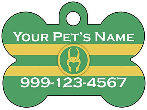 Loki Custom Pet Id Dog Tag Personalized w/Name & Number