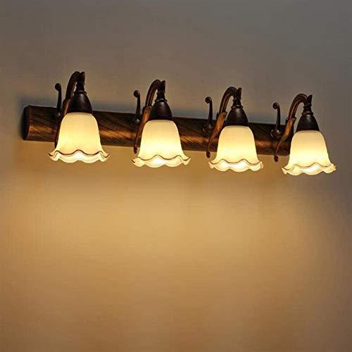 Leifeng Tower Despeje Luz del Espejo LED Faros del baño Lámpara de Pared de baño Simple Estilo Impermeable Anti-Niebla Oxidación de Acero Inoxidable, Awarmlight, 58x6cm