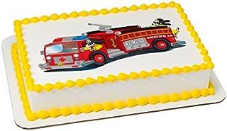 Firetruck Edible Sheet Cake Topper #19267