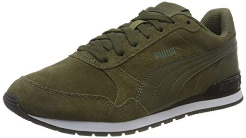 PUMA Unisex ST Runner v2 SD Sneaker, Burnt Olive-Forest Night, 43 EU