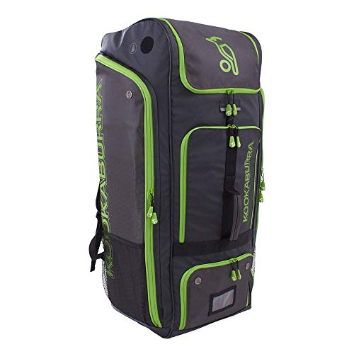 KOOKABURRA 2020 Pro Players Cricket Duffle Bag, schwarz/Lime, 900mm x 350mm x 350mm