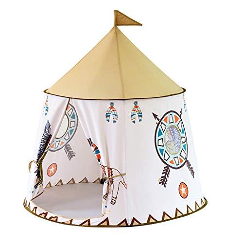 CUTICATE Tienda de Campaña Infantil Plegable Castillo de Princesa con Cúpula Caja de Juego Estilo Indio Juego Interior/Exterior para Niños Muchachos - #3