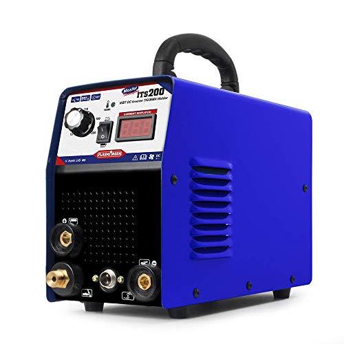 PLASMAGRON TIS200 2 IN 1 TIG/STICK/ARC Welder Machine High Frequency 200Amp Dual Voltage 110/220V IGBT DC Inverter MMA TIG Welding Machine
