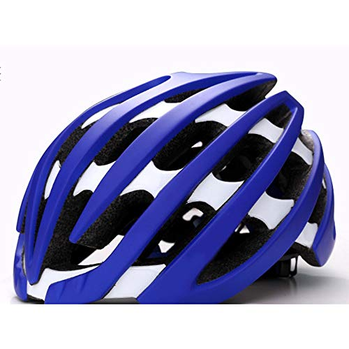 Fahrradhelm Komfortabler Helm Leichter Helm Fahrradhelm Profi Helm Einstellbare Kopfumfang LPLHJD (Farbe : Blue)