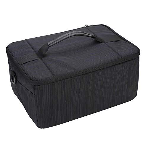 Mugast camera-beschermhoes draagbare cameralens tas van polyester met nylon handvat voor fotografie-liefhebbers, duurzaam, waterdicht en schokbestendig, zwart