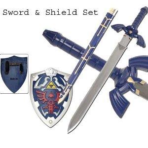 Zelda Replica Twilight Master Blue Sword&Blue Shield Set