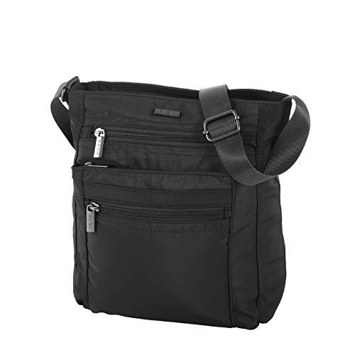 Rada Umhängetasche Damen, für Freizeit, Schultertasche inkl. Mini-Taschenlampe, Frauen und Mädchen, modische Messenger Bag in verschiedenen Farben (schwarz)