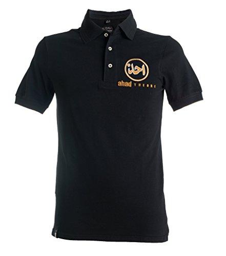 AHAD THE ONE - Polo - Homme Noir Noir/or