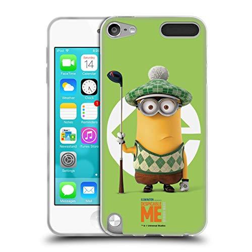 Head Case Designs Oficial Despicable Me Kevin - Disfraz de Golfista Esbirros Carcasa de Gel de Silicona Compatible con Apple iPod Touch 5G 5th Gen
