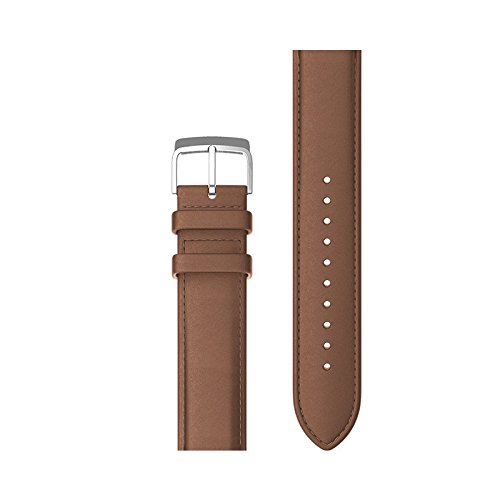 Price comparison product image Ticwatch C2 Ticwatch E Leather Watch Band Accessory Watch Strap for Ticwatch C2 Onyx and Platinum,  Ticwatch E Stylish 20mm (Brown)