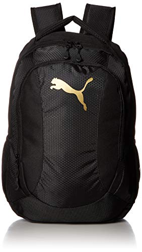 PUMA Men's Equivalence Backpack, black/Gold, One Size