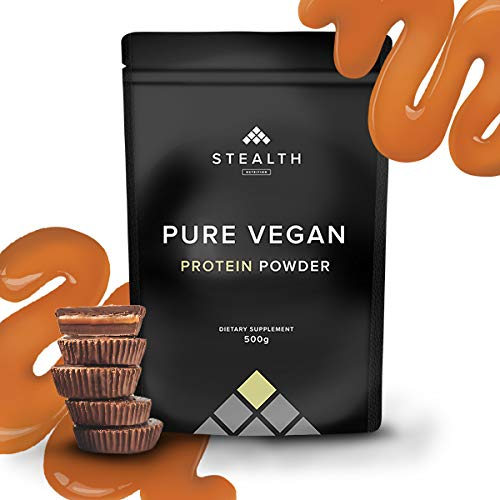 Vegan Nutrition Protein - Protein Powder Blend - Stealth Nutrition | 3 Plant Based Vegan Protein Powders | High in Fibre, Low Carb, Low Fat, Low Sugar, Dairy-Free - (Chocolate Caramel Cups)