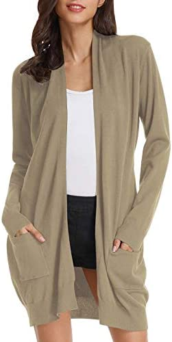 GRACE KARIN Long Cardigan Sweaters for Women Knitting Drape Street Wear 2XL Camel product image