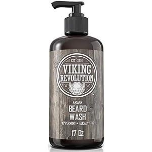 Beard Wash Shampoo w/Argan & Jojoba Oils - Softens & Strengthens - Natural Peppermint and Eucalyptus Scent - Beard… 2