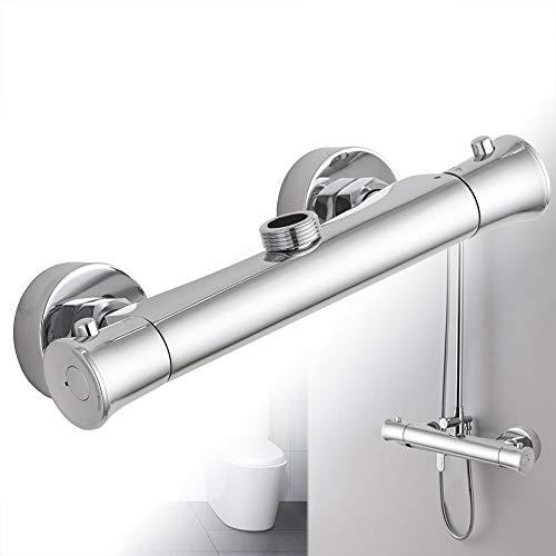 Vinteky ® Grifería Económico Elegante - Grifo termostático de ducha 3/4''(M002)