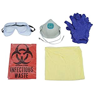 Basic Fentanyl/Opioid Personal Protection Kit - Made for First Responders - NIOSH Recommended Components - Full Body Protection - N100 Mask Included
