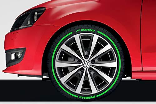 LK Performance - Adhesivo de vinilo para neumáticos (goma verde)